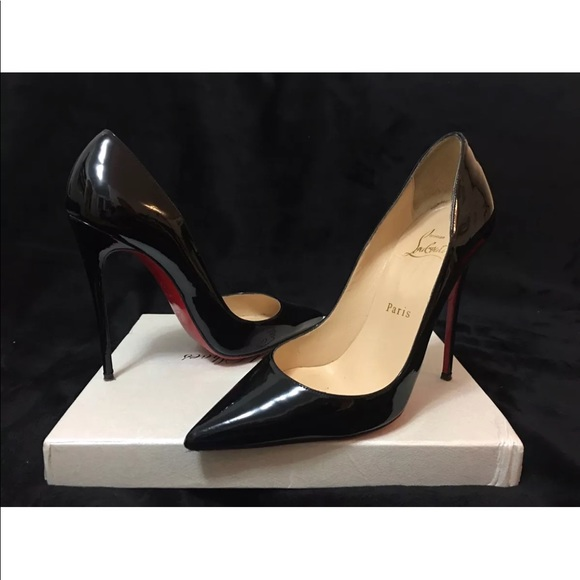 ae13d5f0cca Christian Louboutin Black Patent So Kate 120mm36.5